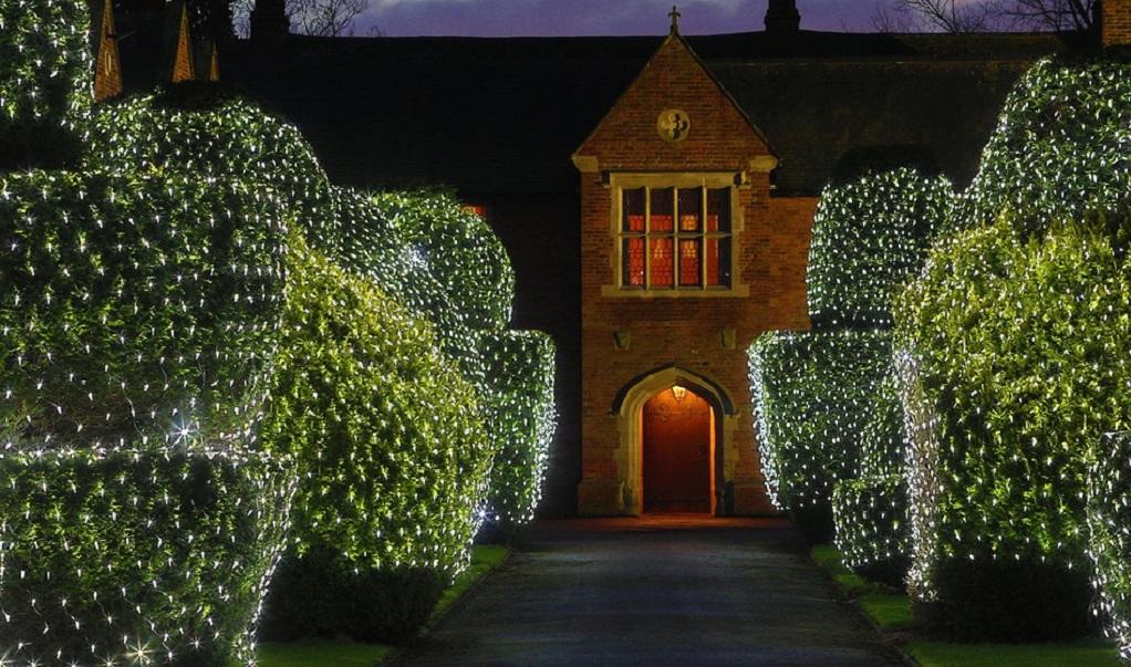 Gordijn van LED kerstlampjes