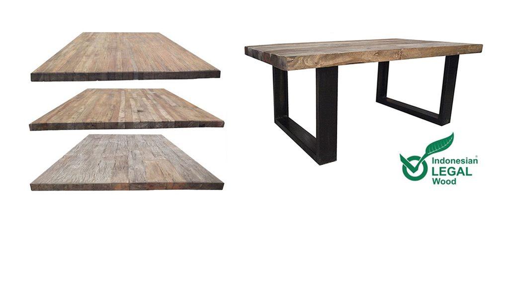 Industriele houten tafels