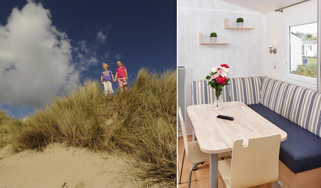 Luxe stacaravan bij de Belgische kust