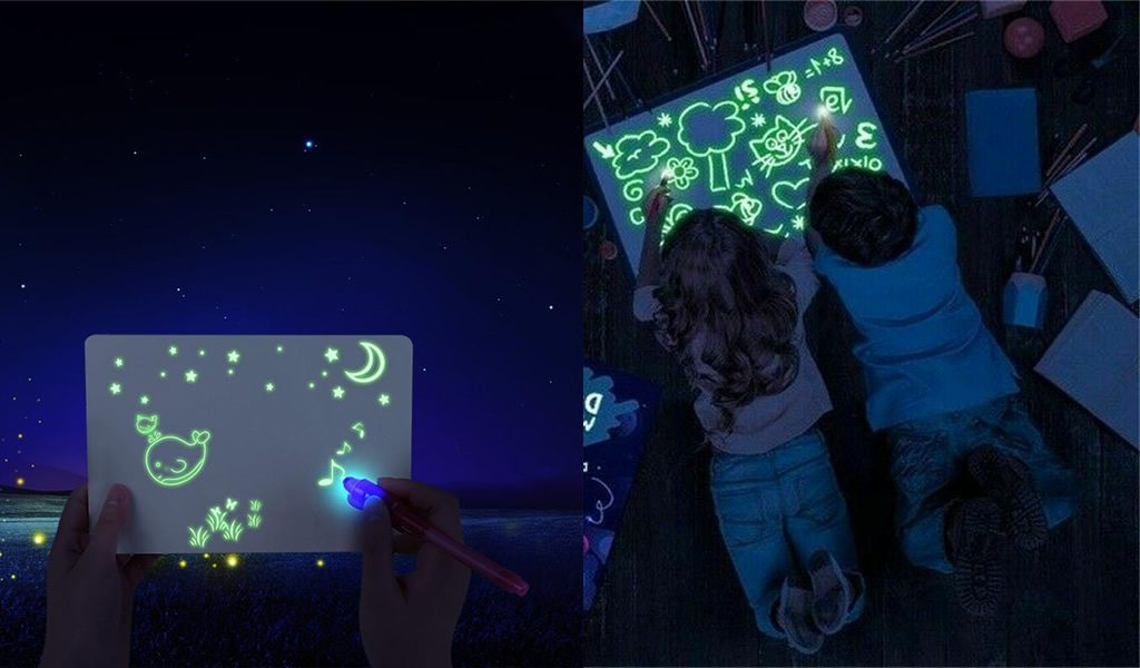 Korting Glow in the dark tekenbord