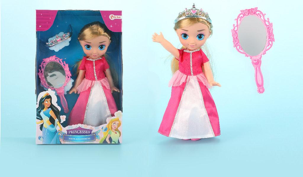Korting Prinsessenpop met accessoires