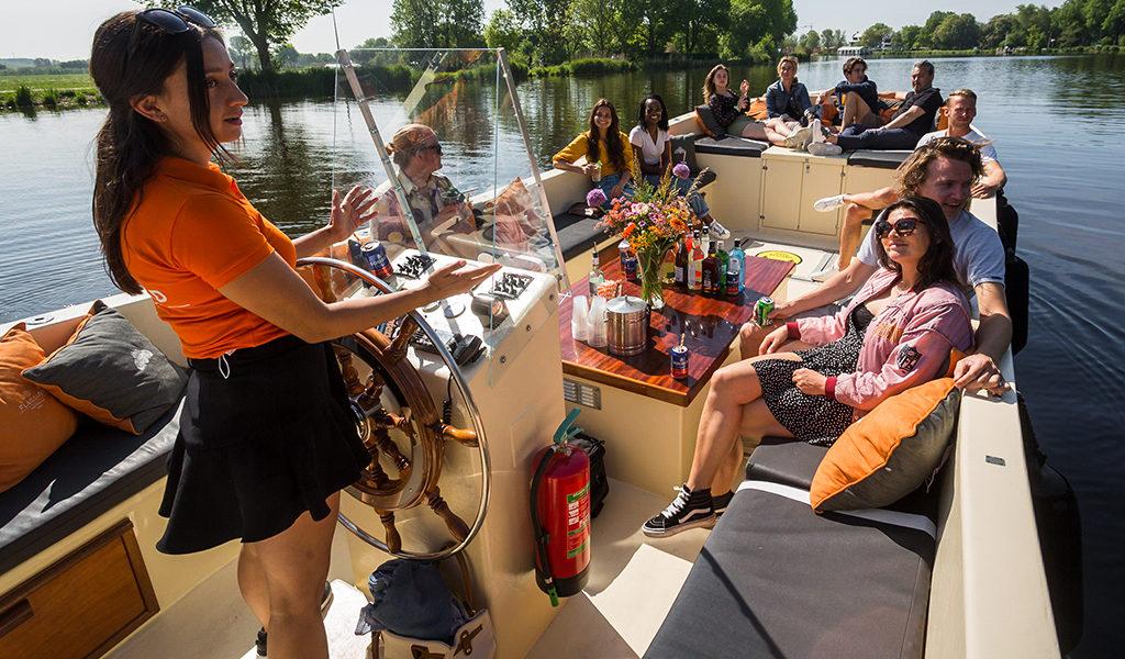 Korting Huur privéboot in Amsterdam