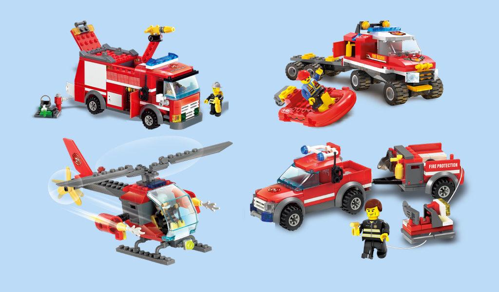 4-in-1 Blocki brandweer bouwset