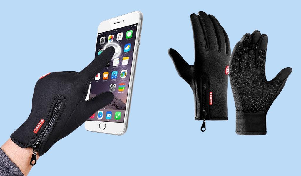 Korting Wind en waterafstotende handschoenen