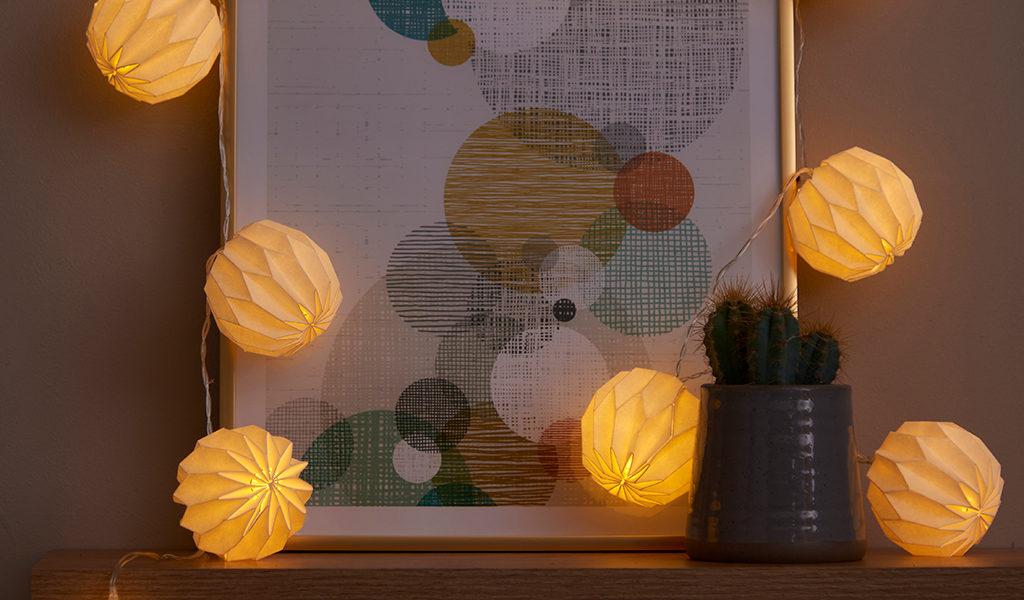 Sfeervolle lampionnen lichtslang